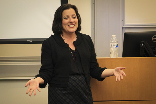 Sara Goldrick-Rab, an alumna and professor of higher education and sociology at Temple University, spoke about college affordability on campus Thursday.
