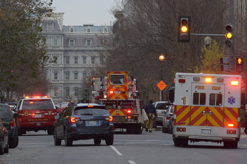 D.C. Fire and EMS responded to an alarm at the Letterman House on F St. Sam Hartgrove | Assistant Photo Editor
