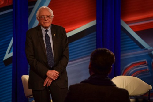 Sen. Bernie Sanders, I-Vt., spoke about the future of the Democratic party at a CNN town hall in Jack Morton Auditorium Monday. Lisa Blitstein | Hatchet Photographer