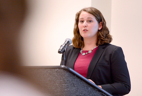 Student Association President Erika Feinman has been pushing to add a student to the Board of Trustees. Hatchet file photo by Sam Hardgrove | Assistant Photo Editor.