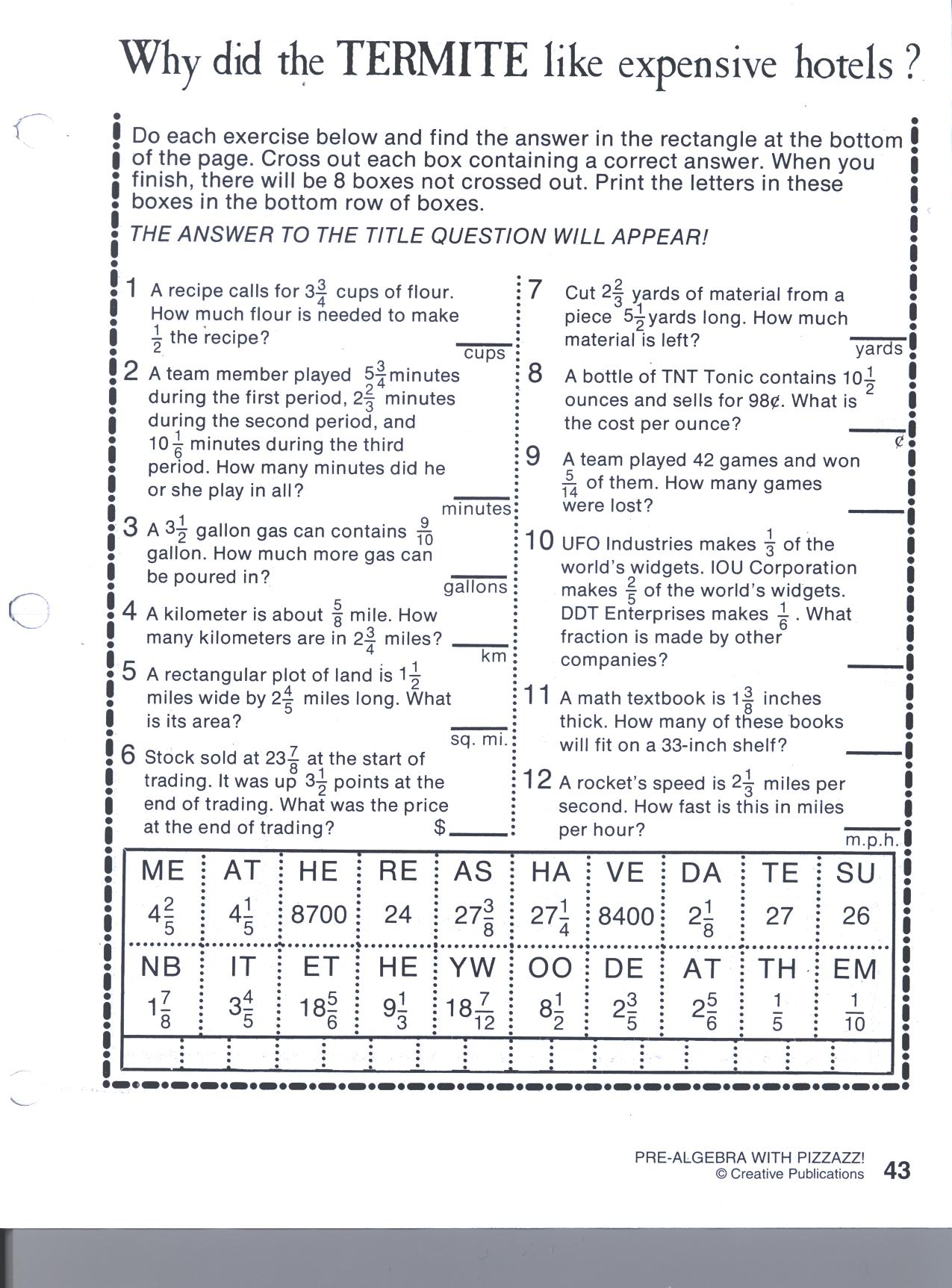 math worksheet : creative publications math worksheets answers  creative  : Creative Math Worksheets