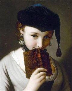 Chica con un libro de Pietro Rotari.