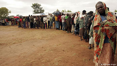 People queue to vote at the recent elections in Malawi