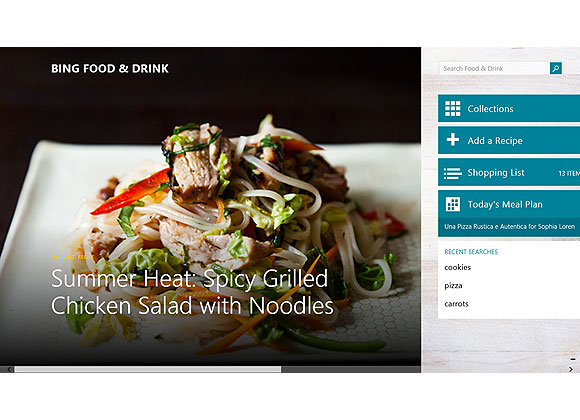 Cook like renowned chef Tom Colicchio and create the perfect dinner menu for your holiday party, easily build a shopping list, and even navigate step-by-step recipes hands-free on your Windows 8.1 tablet – no touching the screen with messy hands!