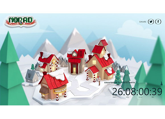 Track Santa as he travels the world delivering gifts with the NORAD Tracks Santa site, a collaboration with NORAD across Internet Explorer, Bing Maps and Windows Azure. In addition to this Web experience, you follow Santa via the NORAD Tracks Santa app on Windows tablets and computers, and Windows Phone devices! Count down the days until Dec. 24. See where Santa's been and where he's headed next in real-time via the app Live Tile, plus use Snap while multi-tasking to play games, learn about why NORAD tracks Santa, watch videos about the journey and more. Free download.