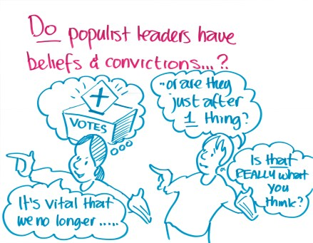 """Do populist leaders have beliefs & convictions?"""
