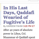 The 72 Names of Qadafi, Gadafi, Gadhafi?