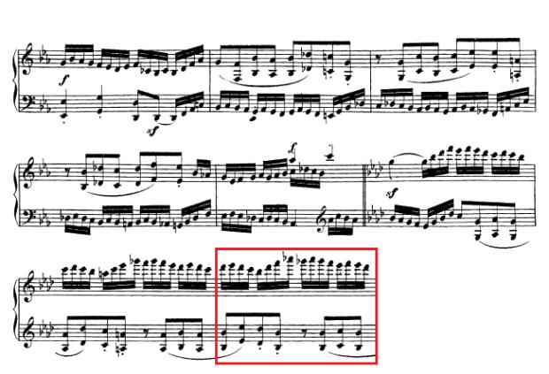 Beethoven op. 111 - 1. Satz - Takt 46