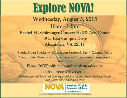 Explore NOVA Final Invitation