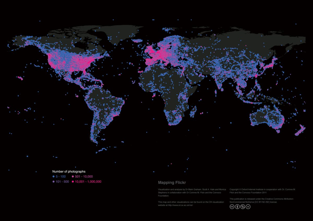 Mapping the uneven geographies of information worldwide