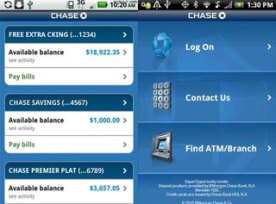 Chase's mobile application for Android