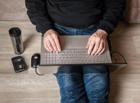 laptop on lap