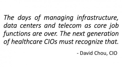 CIO Perspective: The Evolving Role of Healthcare CIOs: David Chou