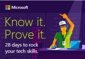 Know It. Prove It. 28 days to rock your tech skills.