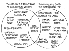 University web site comic