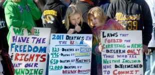 Images from gun control rallies across America
