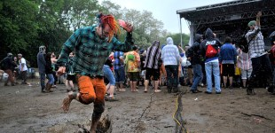 Summer Camp jams on in the mud and rain