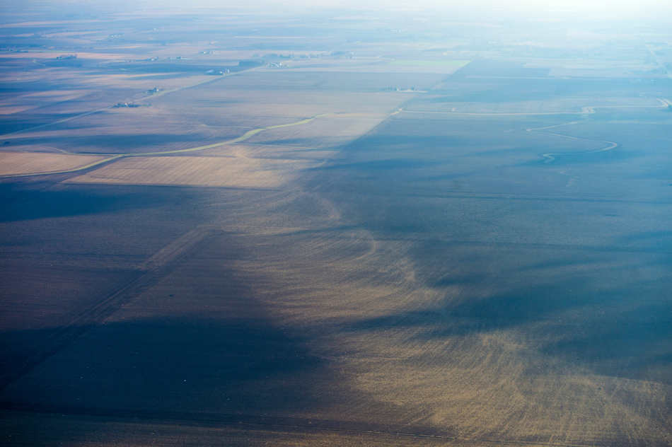 FRED ZWICKY/JOURNAL STAR The path of the tornado can be seen clearly from the air, swirling through farm fields after ripping through Washington on Nov. 17, killing one person, injuring dozens more and decimating hundreds of homes.