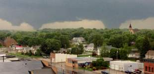 Twin tornadoes flatten tiny town in Nebraska