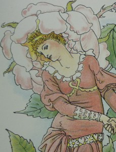"""Walter Crane's """"blushing Rose"""" (Queen Summer) Inspired by Mrs. Rose?"""