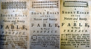 """First page of text in all three books: actual text is the same but all three have different woodcut headpieces and decorative capital initial """"T,"""" among other smaller changes--suggesting different editions of similar content."""