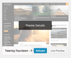 Activate or preview theme