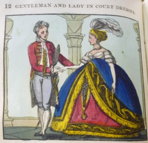 """Gentleman & Lady in """"court dress"""" from the 1820 ed."""