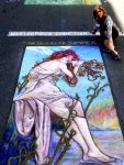 Beauty of Summer, completed sidewalk chalk art by Cathy Gallatin