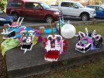 Papier mache dragon heads, made by students of Jacksonville Elementary School under the instruction of art teacher Tami Lohman, wait to be donned for the town's annual Chinese New Year Parade