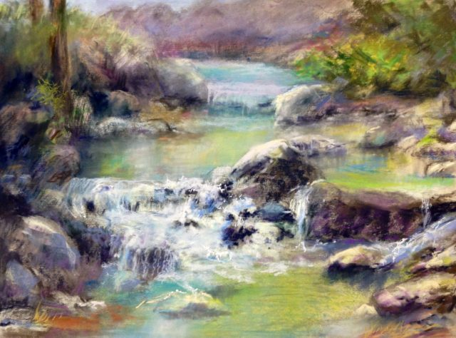 Up On the Green Springs, pastel by Pat Blair