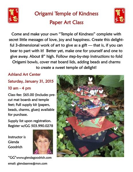 Origami Temple class with Glenda Goodrich