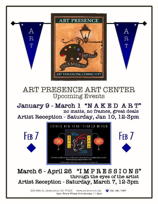 Art Presence - Naked Art exhibition announcement