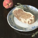 PORK CHOP AND PEACH, by Sarah F Burns