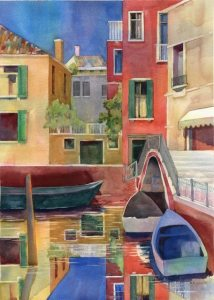 Venice, watercolor painting by Anne Brooke