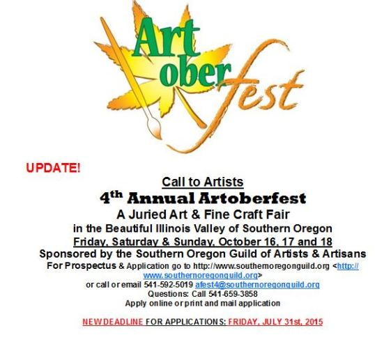 Calls to Artists - Artoberfest and Oregon Wine Experience
