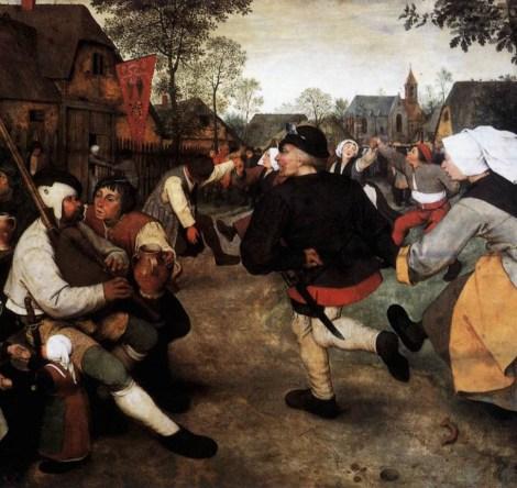 Pieter Bruegel, Peasant Dance, detail