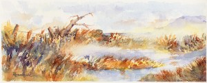Bandon Mist, watercolor by Norm Rossignol