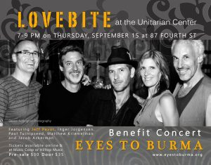 Eyes to Burma Benefit Concert, Featuring LoveBite