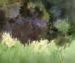 Joan Franklin, New Painting released August 2016, Meadow Trees, watercolor