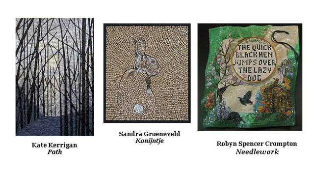 Third Annual Contemporary Mosaic Art Summit Exhibition : mosaic art by Kate Kerrigan, Sandra Groeneveld and Robyn Spencer Crompton
