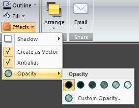 Snagit opacity tool