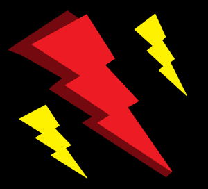 drawing of LIGHTNING BOLTS 