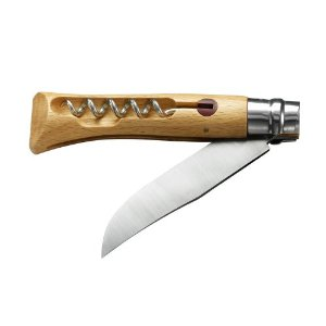 Opinel French corkscrew knife with oak handle