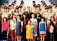 Rani Mukherjee with women cops for the national anthem video