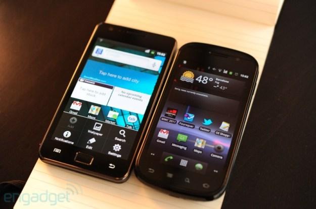 Samsung Galaxy S II vs Samsung Nexus S