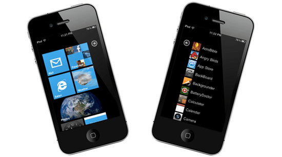 Windows Phone 7 Interface on iPhone 4