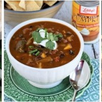 Wicked Good Vegetarian Chili #PumpkinCan