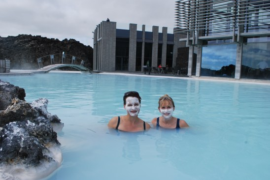 In the Blue Lagoon in Iceland