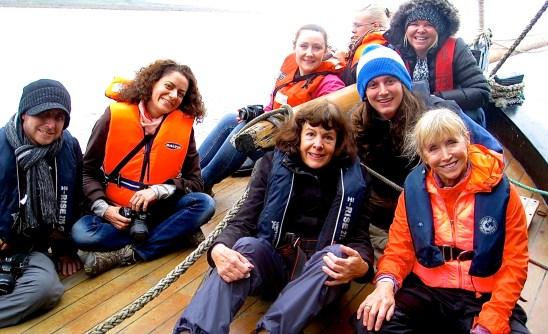 Bloggers on Irish Hooker ship
