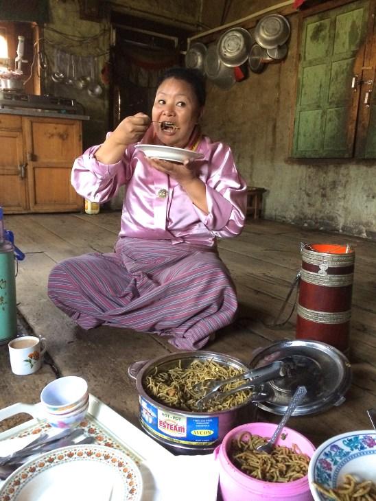 Buckwheat noodles in Bhutan